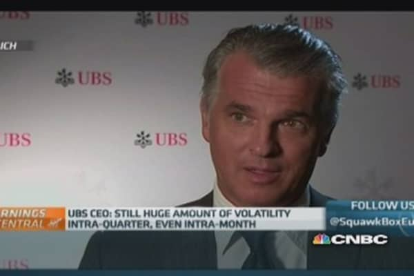 UBS 'more or less' on target for cost-cutting: CEO
