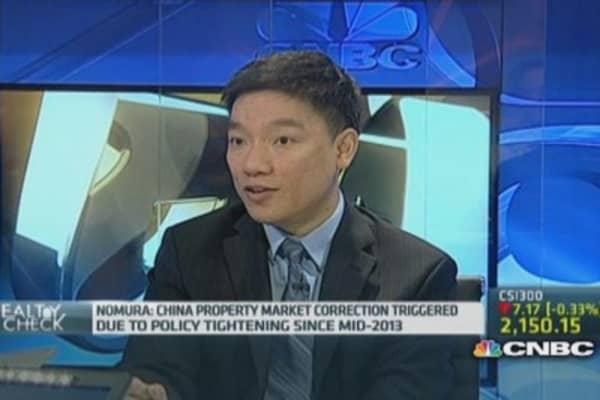 Nomura: China property in correction mode