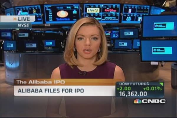 Alibaba files for IPO