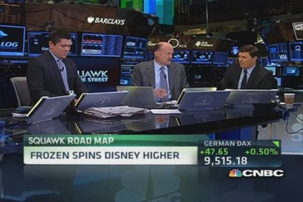 Frozen spins Disney higher
