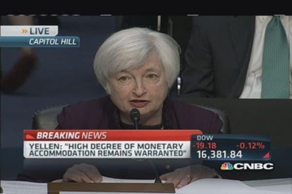 Yellen cautions on housing activity