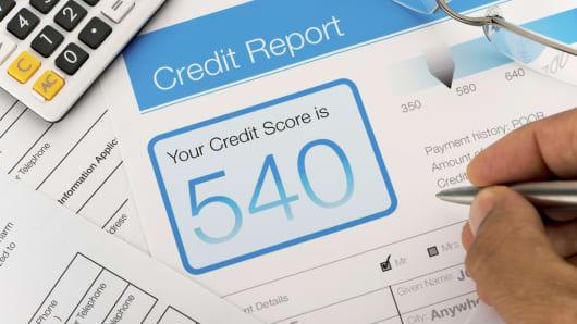 Credit score credit report