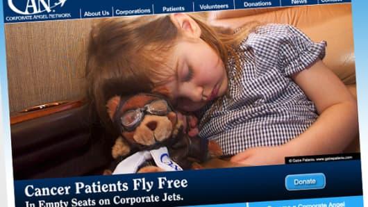 Corporate Angel Network homepage