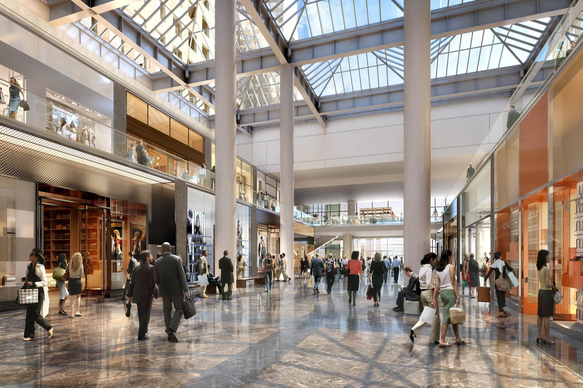 remaking wall street u0027s turf into a retail destination