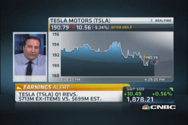 Tesla beats on top, bottom line