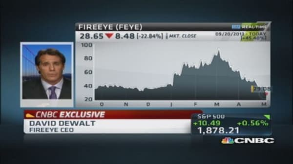 FireEye CEO:  Really good quarter