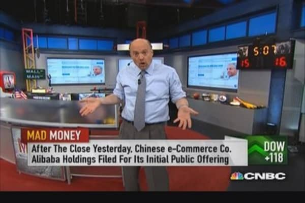 Cramer on Alibaba: Wrong time, wrong biz, wrong cohort
