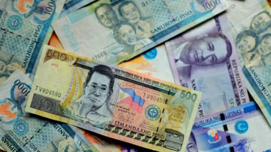 Peso pierces 51:$1, ends at 11-year low