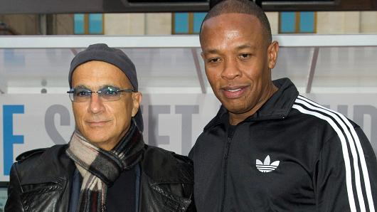 Jimmy Lovine and Dr Dre, co-founders of Beats.