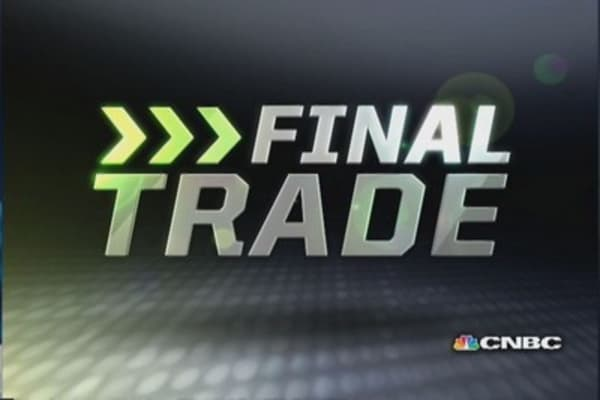 Fast Money Final Trade: UA, SPWR, GLD, SYMC