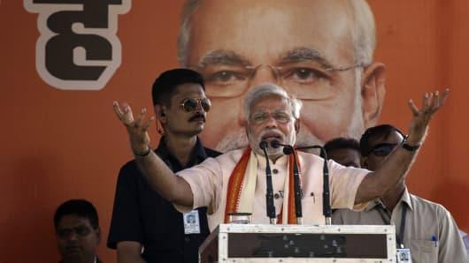BJP leader Narendra Modi.
