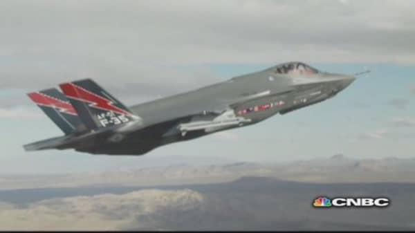 Flying Lockheed's F-35 jet