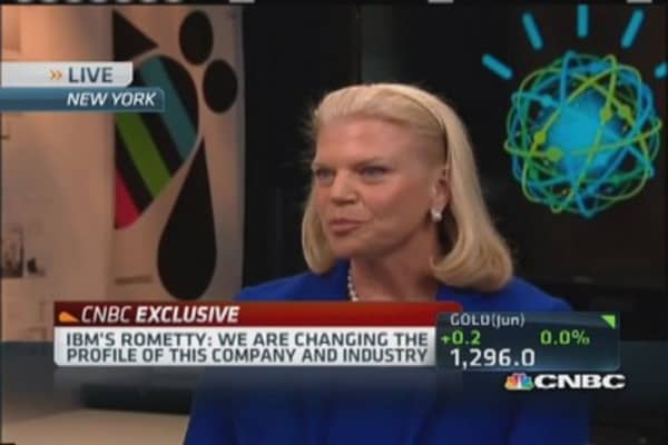 IBM's Rometty: Leading 'reordering' of industry