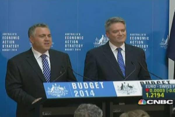 Australia unveils deficit-slimming budget