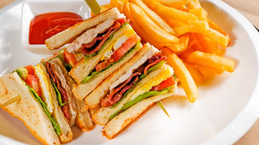 Premium club sandwich