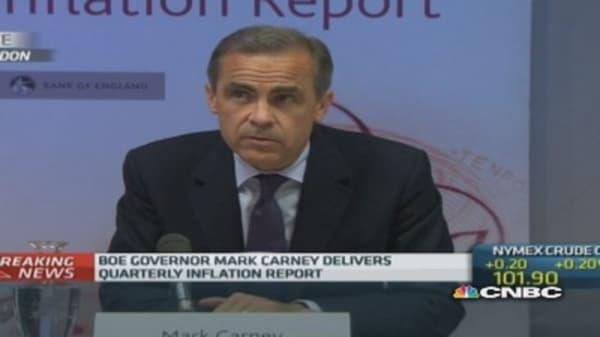 UK economy still faces headwinds: Carney