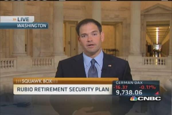 Rubio reveals retirement plan