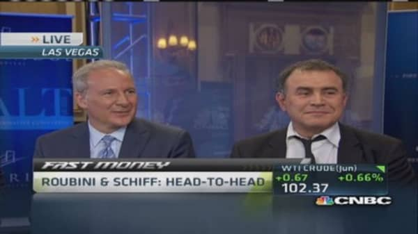 Roubini and Schiff mano-a-mano