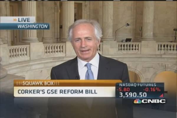 Sen. Corker plans to unwind Fannie & Freddie