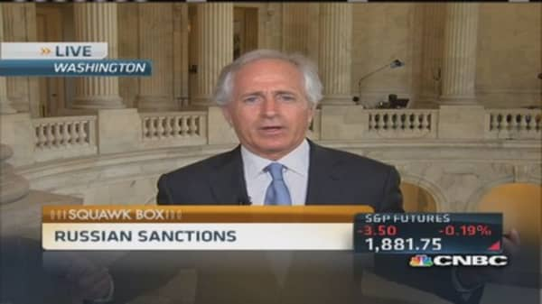 Sen. Corker's strong messsge to Russia