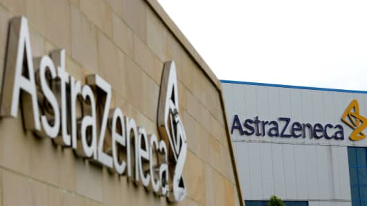 British pharmaceutical company AstraZeneca's manufacturing site in Macclesfield, northwest England.