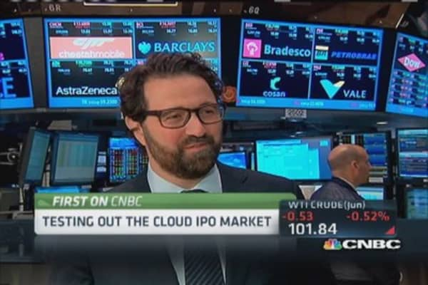 Testing the cloud IPO market