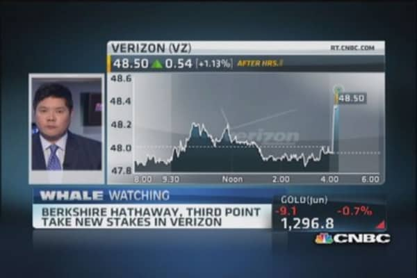 Berkshire Hathaway, Third Point make large bets on Verizon