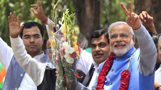 BJP prime ministerial candidate Narendra Modi.