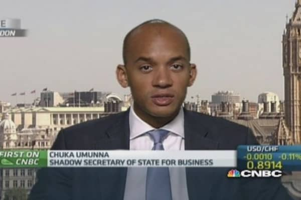 UK must rebalance economy: Shadow business secretary