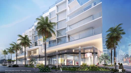 Artist rendering of the AC Hotel in Miami Beach.