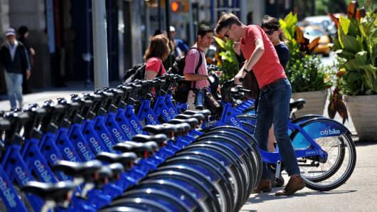 Citi Bike share in New York City.