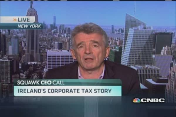 Ryanair CEO on corporate taxes
