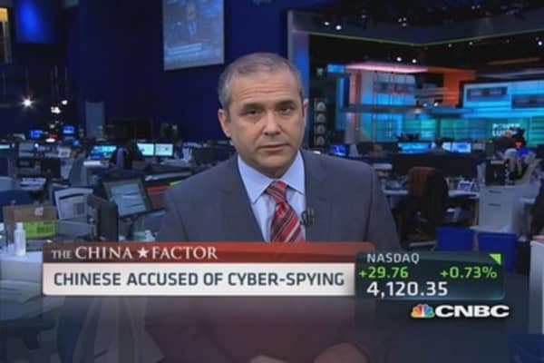 Chinese accused of cyberspying