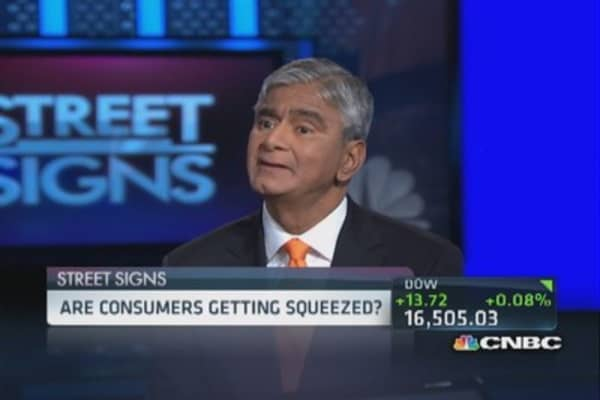 Consumer squeeze from gas prices
