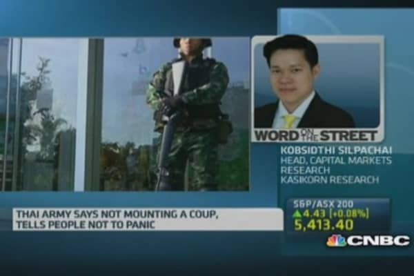 We learnt about martial law from CNBC: Kasikorn