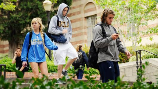 Students on the campus of UCLA