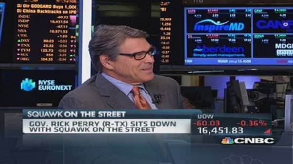 Gov. Rick Perry on Chipotle & guns