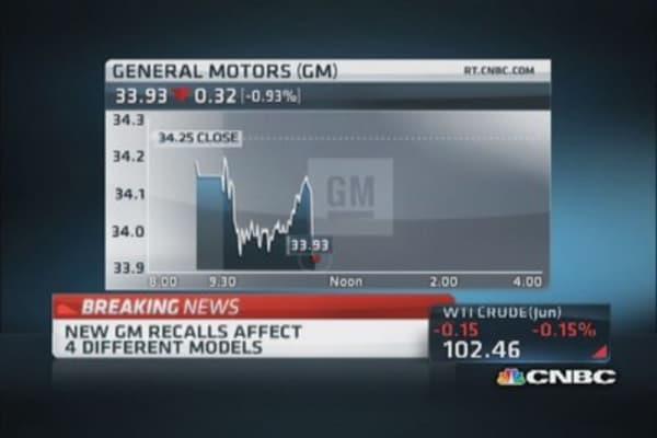 More GM recalls today