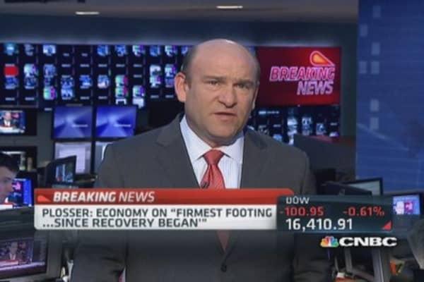 Economy firmest since recovery began: Fed's Plosser
