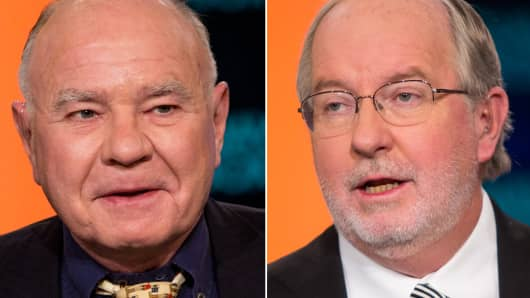 Marc Faber and Dennis Gartman.