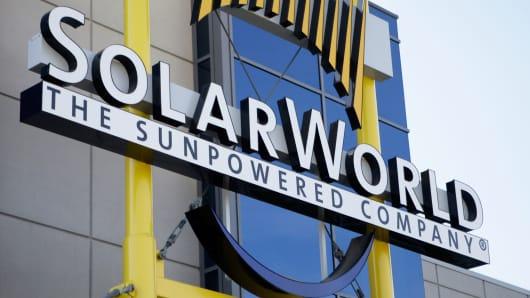 SolarWorld's manufacturing plant in Hillsboro, Oregon.