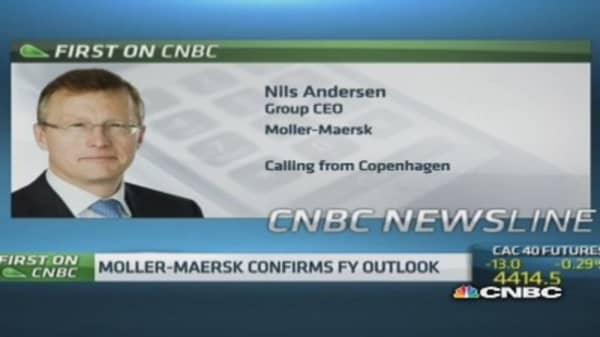 Global trade is improving: Moller Maersk CEO