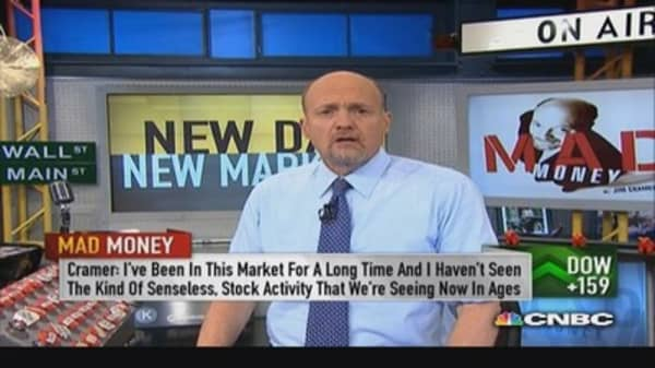 Cramer on stock market's 'idiotic behavior'