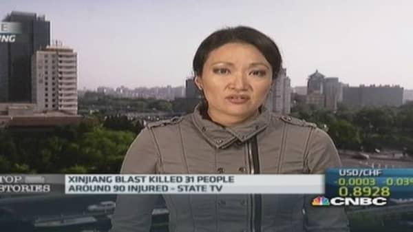 China Xinjiang blast kills 31 people