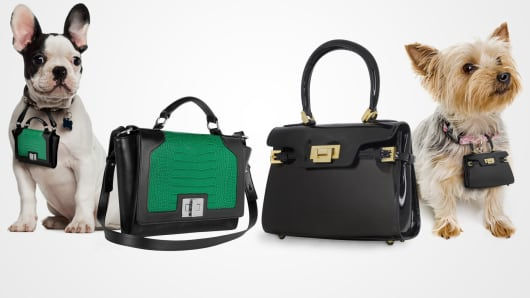 Your own handbag plus a miniature replica 'pawbag' for your pooch.