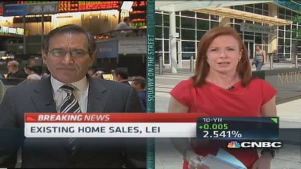 Existing home sales up 1.3%