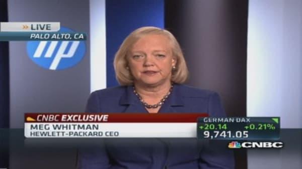 Meg Whitman: Workforce rebalance good for customers
