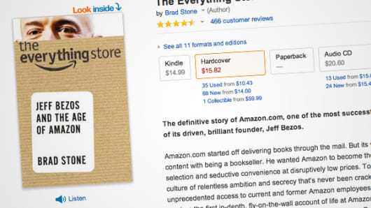 "Amazon.com page for ""The Everything Store: Jeff Bezos and the Age of Amazon"" book"