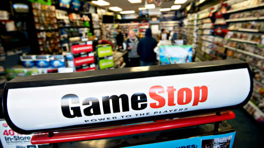 GameStop signage in a store in Peru, Illinois, March 26, 2014