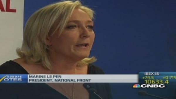 Marine Le Pen on election victory